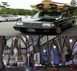 Booking hearse and resting place